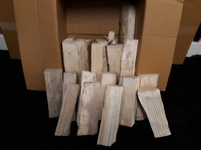 hardwood, kiln-dried, split logs